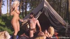 grosse booty gabby wird bestraft durch einen großer schwanz, große brüste