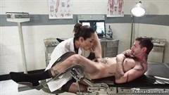 ungewöhnlicher shemale  patient in klinik